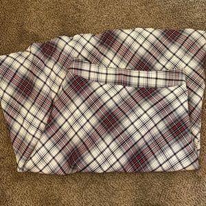 🍊Long Plaid Tea Length Plaid Skirt